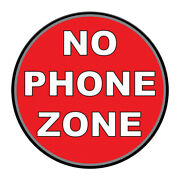 Cell Phone Floor Decals No Zone Red Anti-slip Round Shape Signs Stickers