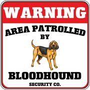 Crossing Sign Warning Area Patrolled Bloodhound Dog Security Co Cross Xing Metal