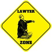 Aluminum Crossing Sign Lawyer Zone Cross Xing Style A Diamond Street Signal