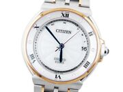 Wristwatch Citizen Exceed Euros As7076-51a Used Men's Silver Stainless Steel