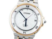 Wristwatch Citizen Exceed Euros As7076-51a Used Menand039s Silver Stainless Steel