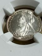 1896 Great Britain Silver 3 Pence Maundy Money Graded Ms67 By Ngc