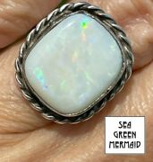 Australian Pinfire Opal Ring In 925. Large 15ct Video_21_234
