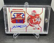 2020 National Treasures Mecole Hardman Lamar Hunt Colossal Patch Auto And039ed 20/25