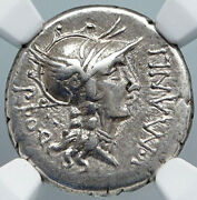 Dictator Sulla In Chariot Authentic Ancient 82bc Silver Coin Of Rome Ngc I88893