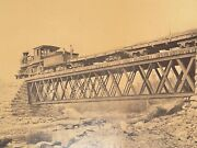 Pennsylvania Mammoth Plate Train On Erie And Wyoming Valley Railroad Bridge