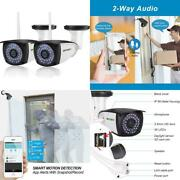 [new 2 Pack] Wifi Camera Outdoor Sv3c 1080p Hd Two Way Audio Security Ip Camera