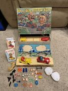 Very Rare Mr And Mrs Potato Head Deluxe Car And Trailer Set Game Hasbro Vintage