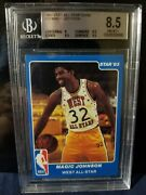 1983 Star Magic Johnson Nba All-star Game Magic Johnson 18 Bgs 8.5 Hof Lakers