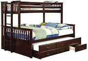 Furniture Of America Foa Frederick Cottage Solid Wood 3-drawer Queen Bunk Bed Wi