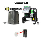 Viking L3 - 2nd Generation Slide Gate Operator With Monitored Photocell