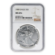 1989 American Silver Eagle Ngc Ms69 Star Business Strike Very Low Population