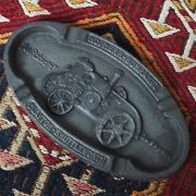 Antique 1925 Tractor Hscs Robuste Village History Agriculture Machine Tray Dish