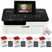Canon Selphy Cp1000 Compact Photo Printer + 4 Packs Color Ink 4x6 Paper Set