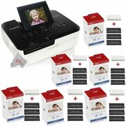 Canon Selphy Cp1000 Compact Photo Printer + 6 Packs Color Ink 4x6 Paper Set