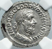 Pupienus Ancient 238ad Rome Sestertius Silver Old Roman Coin Victory Ngc I88882