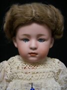 Rare Closed Mouth Pouty Child - Heubach 6970 Andndash Sleep Eyes - Perfect Bisque -11in