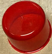 Red Beacon Dome Vintage Large Revolving Light Lens Nas 250-33 New 8 X 5.25