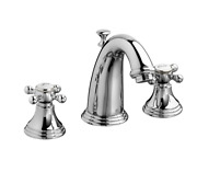 Dxv Ashbee 1.2 Gpm Widespread Faucet With Pop-up Drain Assembly, Polished Chrome
