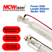Mcwlaser Co2 Laser Tube 40w150w For Laser Engraver Cutter Express And Insurance