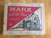 Vtg Marx Steam Type Electric Train Set Model 4040 Engine Cars Track For Parts