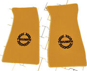 Floor Mats For Triumph Tr7 And Tr8 Velours Beige And Logo Black/red