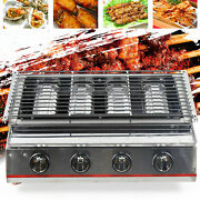 Stainless Steel Lpg Barbecue Machine Tabletop Mini Smokeless Gas Bbq Grill Plate