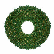 Northlight 6and039 Artificial Olympia Pine Commercial Christmas Wreath Clear Lights