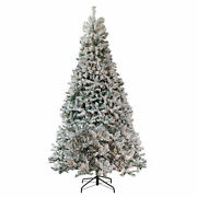 Northlight 12and039 Heavily Flocked Pine Medium Artificial Christmas Tree Clear Light