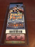 Authentic 2002 Ncaa Mens Final Four Ticket Stub Booklet With 2 Full Tix Maryland