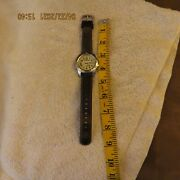 Timex Menand039s Watch - Expedition Indiglo Wr100m W/ Leather Band In Great Condition