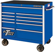 Extreme Tools Rx412511rcbl Professional 11 Drawer Blue Roller Cabinet 41-1/2w