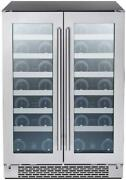 Zephyr Presrv Dual Zone Wine Cooler With Glass French Door. 24 Inch 5.15 Cu/ft.