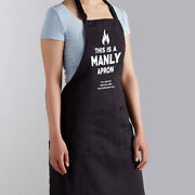 This Is A Manly Apron Husband Bbq Dad Gift Grill Cooking Bib Grilling Chef Apron