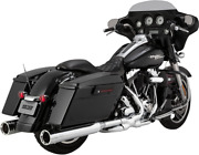 Vance And Hines H-d And03995-and03916 Flh Flt Oversized 450 Slip-on Chrome Destroyer 16553