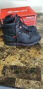 Snap-on Steel Toe Work Boots Electrical Hazard Goodyear Black Leather Men's 12