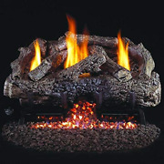 Peterson Real Fyre 24-inch Charred Frontier Oak Log Set With Vent-free Propane A