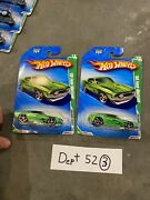 Lot Of 2 2010 Hotwheels Treasure Hunt And03969 Ford Mustang 12/12 1/64