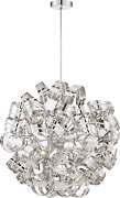 Quoizel Rbn2831crc Ribbons Curved Metal Foyer Pendant Ceiling Lighting 12-light