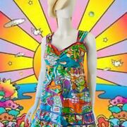 Vtg 90andrsquos Peter Max Style Mini Dress By Kanabeach