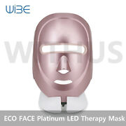 Eco Face Platinum Led Therapy Mask Home Skin Care Device Rose Gold / Silver
