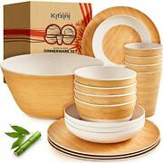 Bamboo Dinnerware Sets For 4 – Nice Quality And Durable W/ Beautiful Bamboo