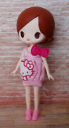 Azone Luna Rock Stray Cat - Nude Doll - Hello Kitty Dress Pink Shoes + Re-ment