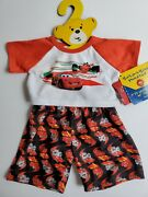 Build-a-bear Disney And039carsand039 Lightning Mcqueen Teddy Clothes Outfit New W Tags