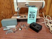 Necchi Lilia Leather Upholstery Heavy Duty Sewing Machine Serviced Pink