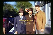Wwii Airman With Men In The Mid 1940's, Kodachrome Slide Diapositive F4b
