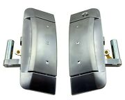 Pair Left Right Outside Outer Exterior Silver Door Handles For 03-09 Nissan 350z