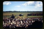 Women, Men At Horse Race Track In California In Mid 1940's, Kodachrome Slide F2a