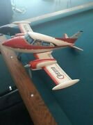 Nomura Toy Tin Airplane Cessna N 6717 X Cessna From Japan F/s Friction Rare Lrg