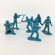 6 Marx Rin Tin Tin Fort Apache 60mm 7th Cavalry Soldiers Lot A54